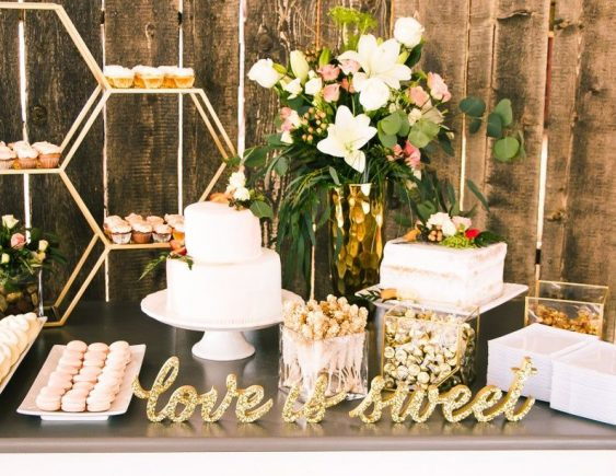 Love Is Sweet Sign Set Wedding Sign for Candy Table, Dessert Table Signs, Bridal Shower or Wedding Table Decor Wooden Signs (Item - LIS200)